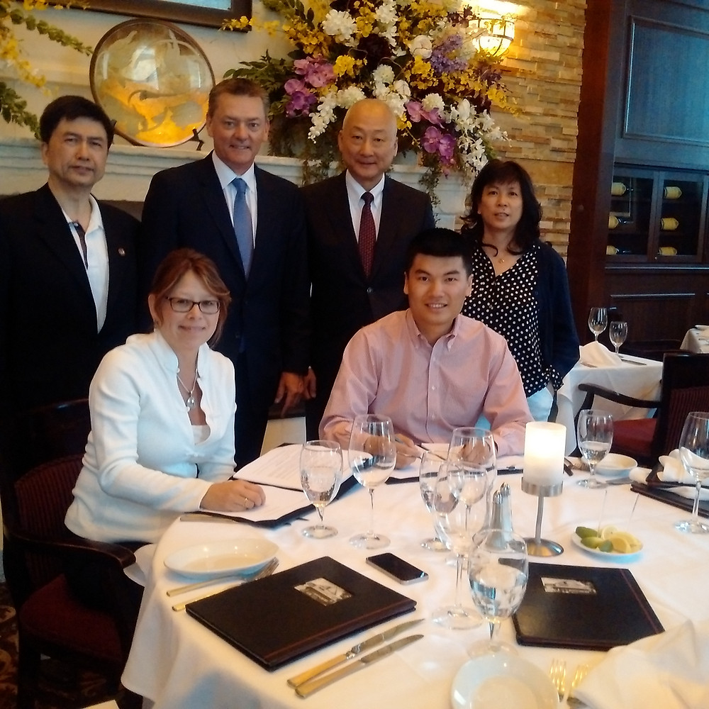 The signing of a joint venture to form the Canada Asia Trading Corporation was recently held in Edmonton.  CATC will procure building materials - in particular wood - for the building of homes in China.