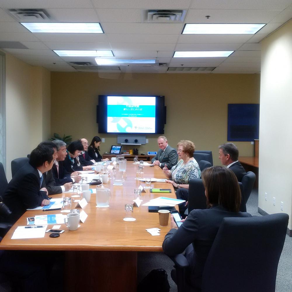 IOG giving a presentation in Ottawa