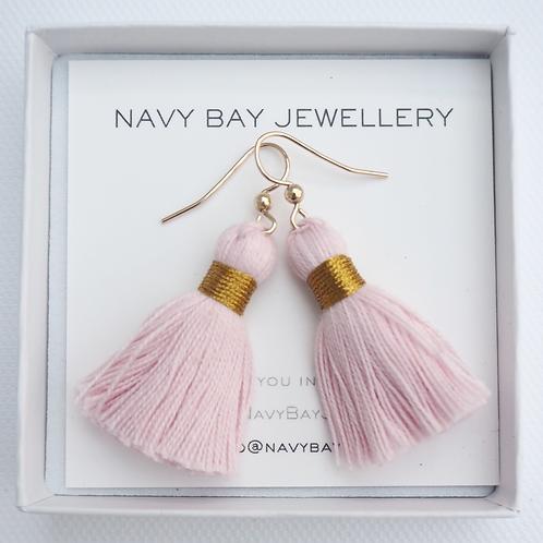 14k Gold-Filled Tassel Earrings | Blush Pink
