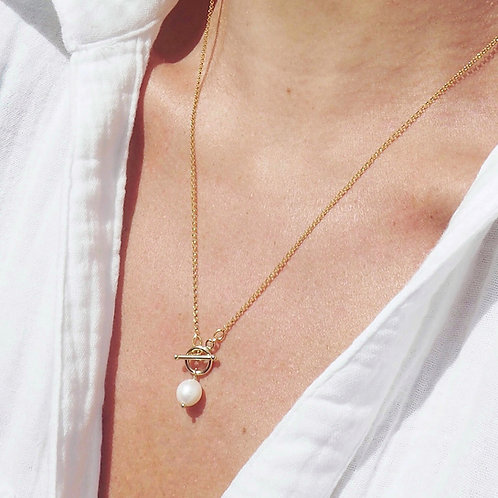 Ring of Bright Water Necklace | 14K Gold-Filled + Freshwater Pearl