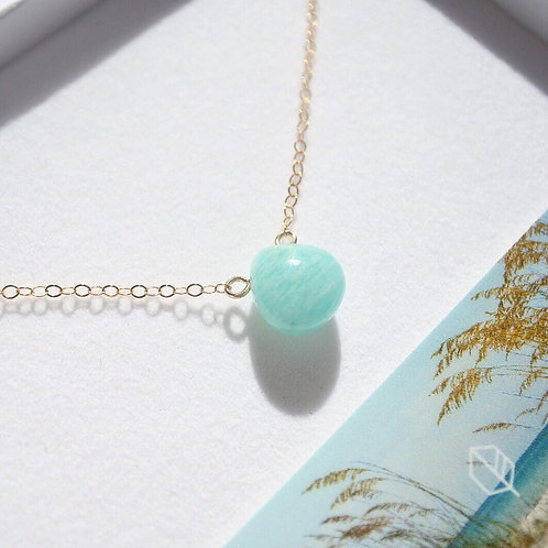 Amazonite + 14K Gold-Filled Salcombe Necklace
