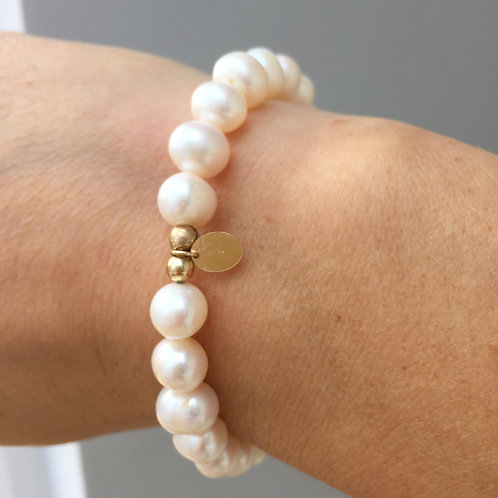 The Althea Bracelet | Freshwater Pearl + 14k Gold-Filled