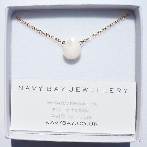 Mother of Pearl + 14k Gold-Filled Sandbanks Necklace