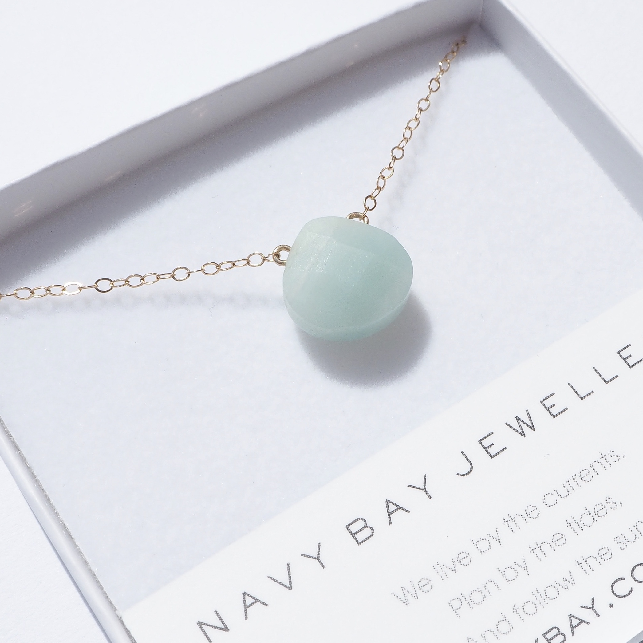 Mint Amazonite Salcombe Necklace