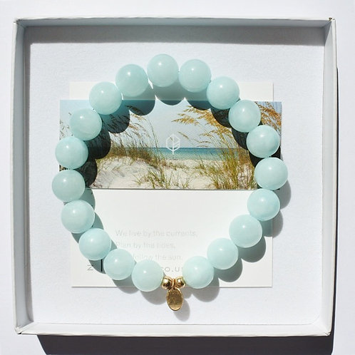 The Emmy Bracelet | Mint Jade + 14k Gold-Filled
