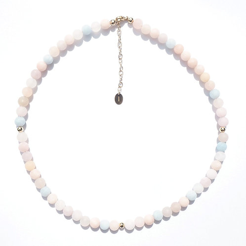 The Kauai Choker Necklace | Pastel Stone + 14K Gold-Filled or Sterling Silver
