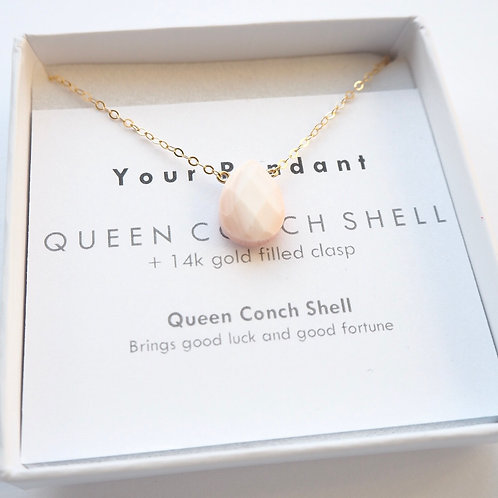 Blush Conch Shell + 14K Gold-Filled Salcombe Necklace