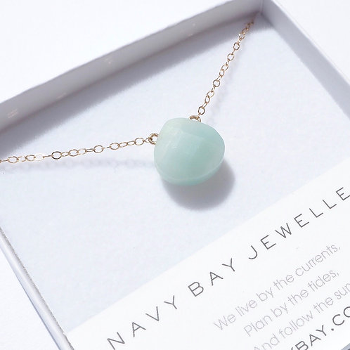 Mint Amazonite + 14K Gold-Filled Salcombe Necklace