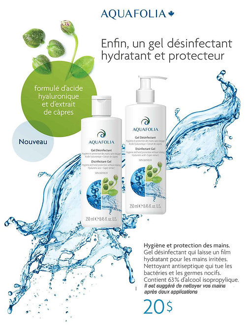 Aquafolia- Gel Désinfectant hydratant