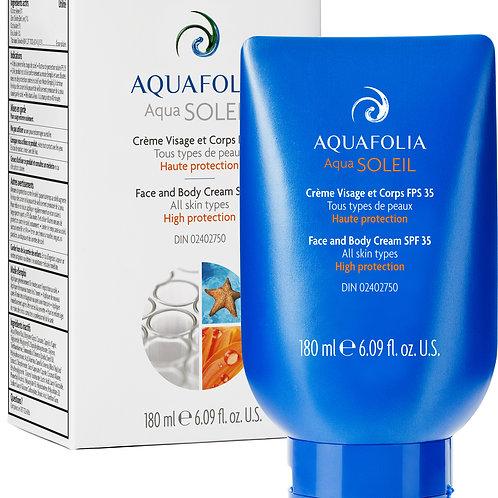 Aquafolia- Crème Visage et Corps FPS 35- Concept Aquafolia SOLEIL