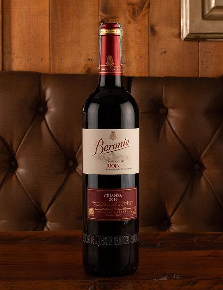 Vino Beronia tempranillo  rioja crianza 2016 Botella (750 ml)