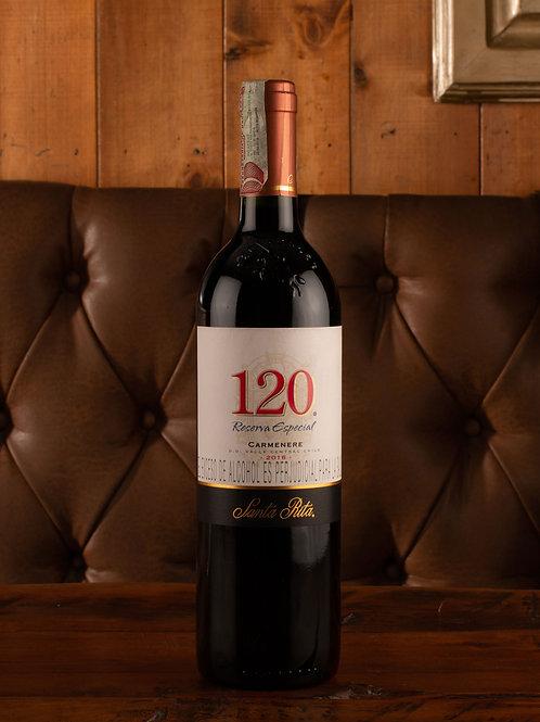 Vino Santa Rita 120 carmenere  Botella (750 ml)