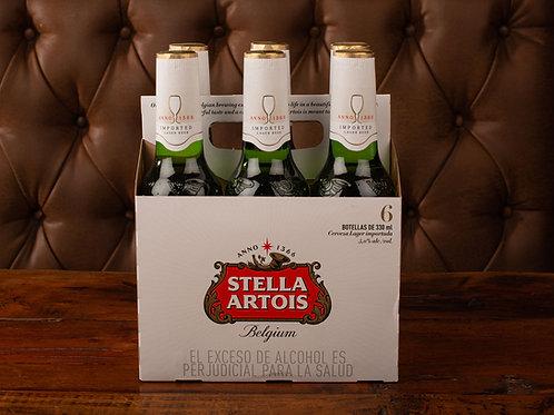 Cerveza stella artois six pack (330 ml)