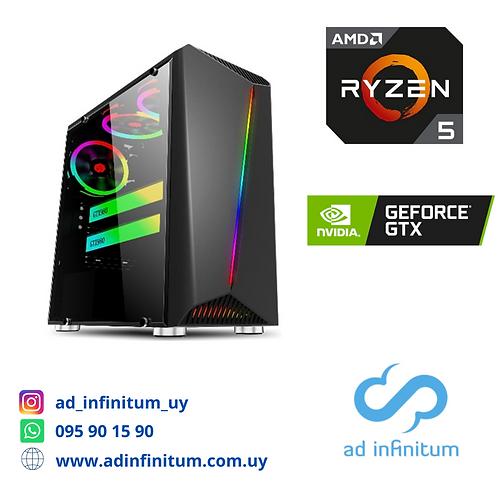 Equipo gamer AMD Ryzen 5 3500x / 8 GB RAM / GTX 1650 Super 4 GB / SSD 240 GB