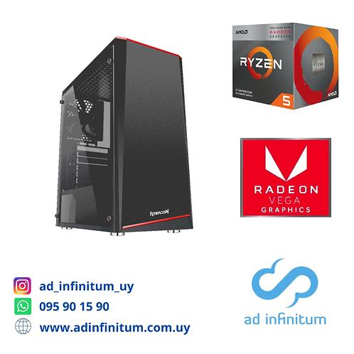Equipo gamer AMD Ryzen 5 3400 G / 8 GB RAM / SSD 240 GB