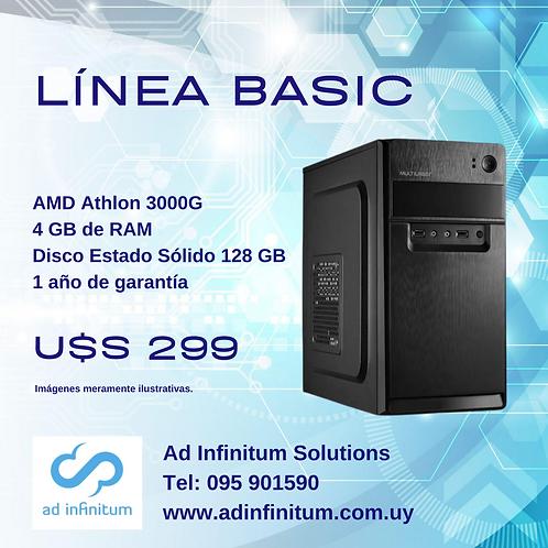 Equipo armado AMD Athlon 3000G / 4GB RAM / SSD 120 GB