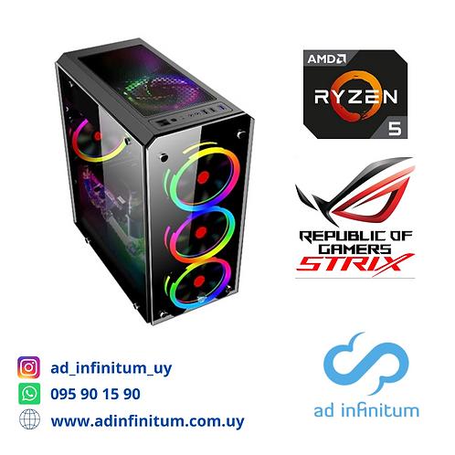 Equipo gamer AMD Ryzen 5 3600 / 16 GB RAM / RX570 8GB/ SSD 480 GB