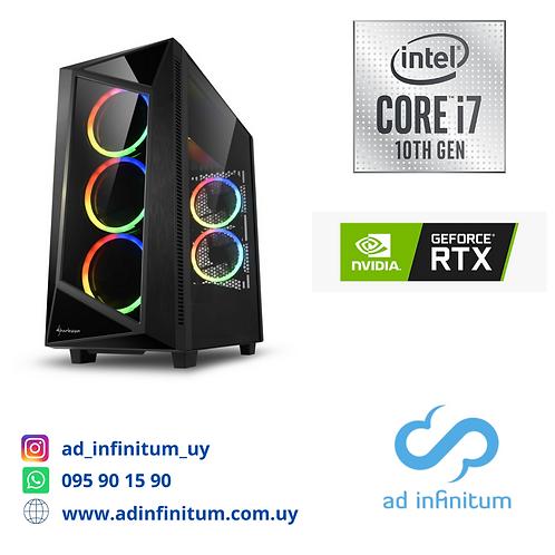 Equipo gamer Intel Core I7-10700 GEN10 / 32 GB RAM / RTX 2070 SUPER 8GB/ SSD 1TB