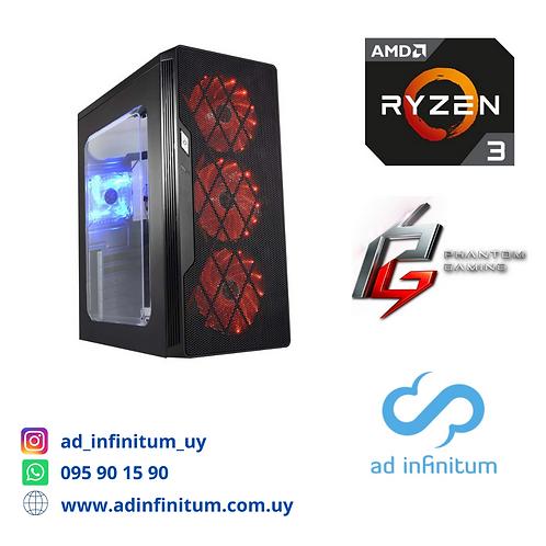 Equipo gamer AMD Ryzen 3 3100 / 8 GB RAM / RX 550 2 GB/ SDD 240 GB