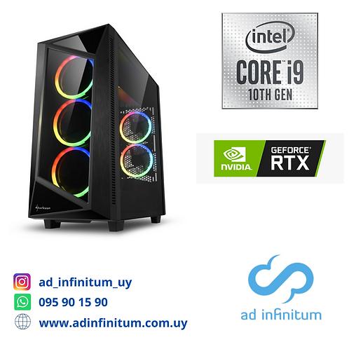 Equipo gamer Intel Core I9-10900 GEN10 / 64 GB RAM / RTX 2080 TI 8 GB/ SSD 1 TB
