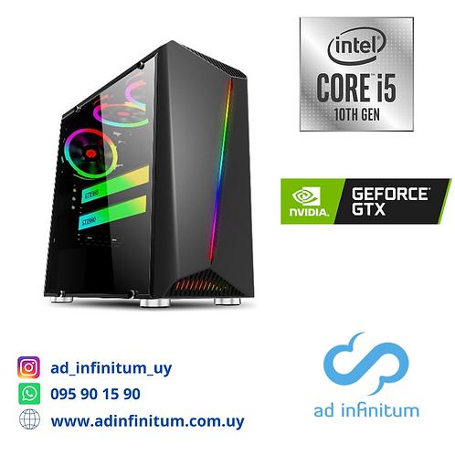 Equipo gamer Intel I5-10400f / 16 GB RAM / GTX 1650 / SSD 240 GB
