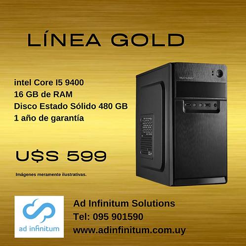 Equipo armado Intel Core I5 9400 / 16 GB RAM / SSD 480 GB
