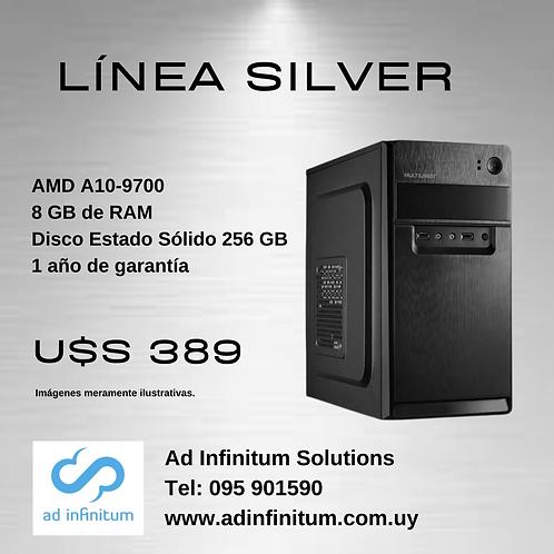 Equipo armado AMD A10-9700 / 8 GB RAM / SSD 256 GB