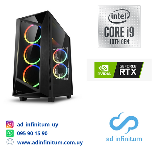 Equipo gamer Intel Core I9-10900 GEN10 / 32 GB RAM / RTX 2070 SUPER 8GB/ SSD 1TB