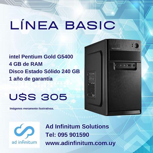 Equipo armado Pentium Gold G5400 / 4GB RAM / SSD 240 GB