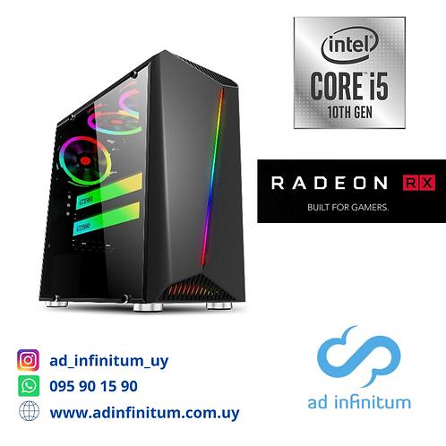Equipo gamer Intel Core I5-10400F GEN10/ 16 GB RAM / RX 5700 8GB/ SSD 1 TB