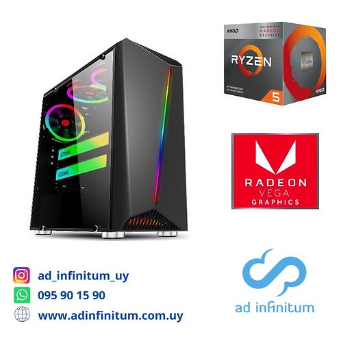 Equipo gamer AMD Ryzen 5 3400G/ 16 GB RAM / SSD 240 GB