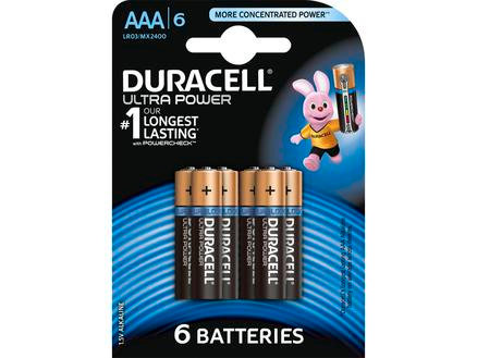 Duracell Pile alcaline Ultrapower AAA 6 pièces