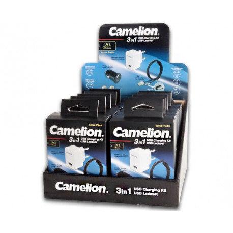 CAMELION - KIT CHARGEUR USB 3 EN 1 - LA PIECE