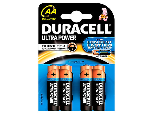 Duracell Pile Ultra Power AA 1,5V 4 pièces