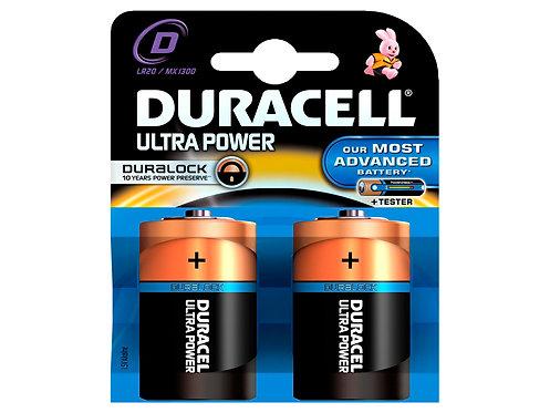 Duracell Pile Ultrapower D 1,5V 2 pièces