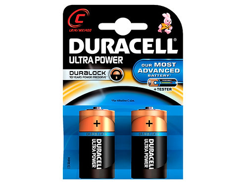 Duracell Pile Ultrapower C 1,5V 2 pièces