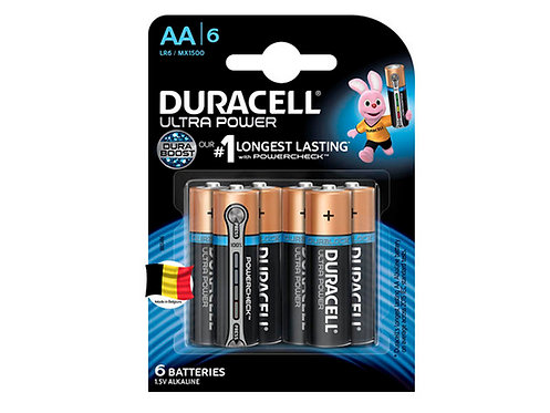 Duracell Pile alcaline Ultrapower AA 6 pièces
