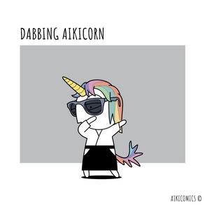 Dabbing Aikicorn