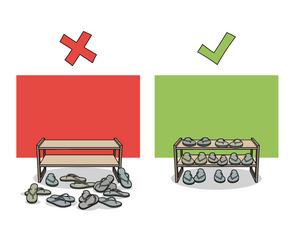 Dojo Rule #8 - Shoe Rack
