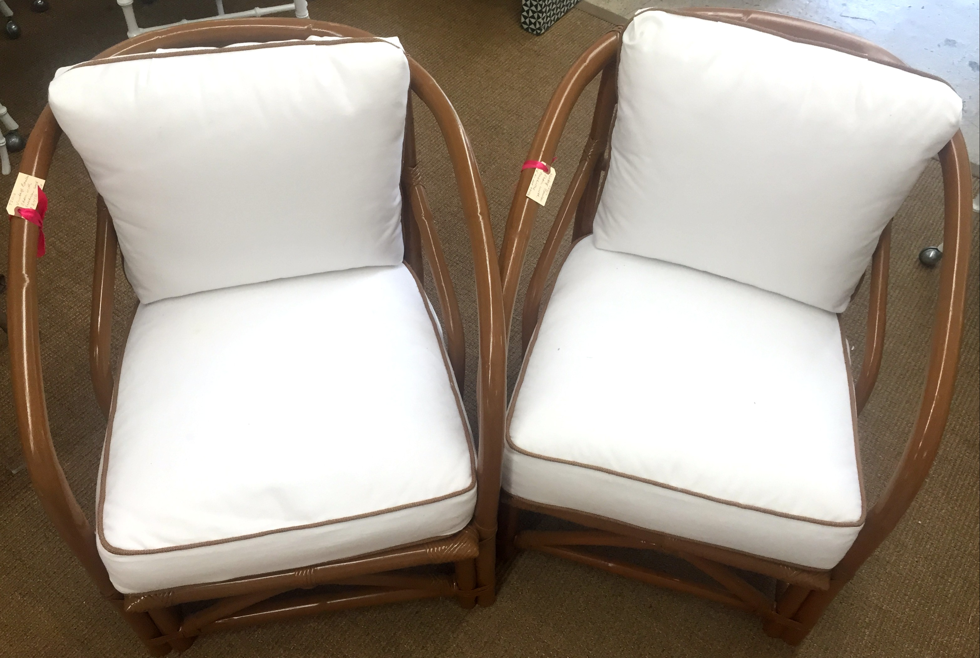 Ficks Reed Bamboo Club Chairs