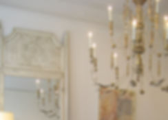 Swedish Chandelier and Mirror