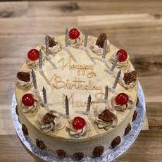 Walnut Cherry Mocha Cake