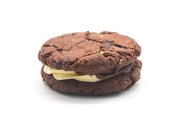 Triple Chocolate Chip Cookie Sandwich