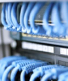 Data cabling cat5e or cat 6 patch panel