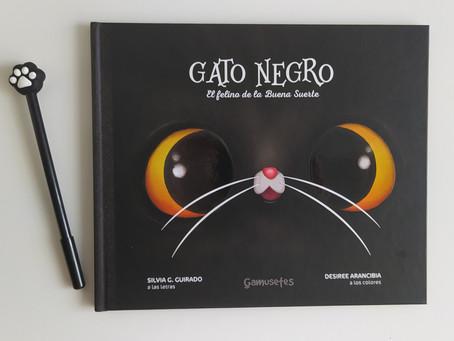 Gato negro. El felino de la buena suerte
