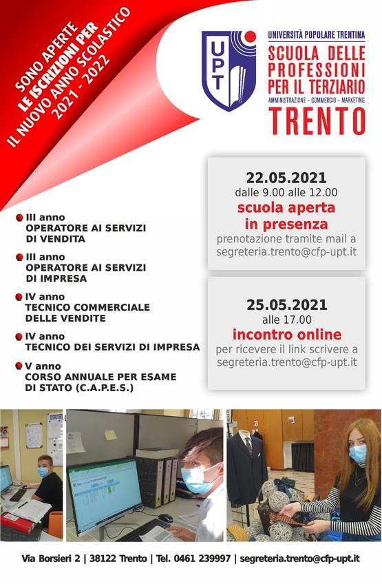2021 SCUOLA APERTA E ONLINE TRENTO maggi