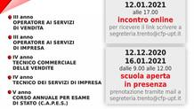 TRENTO - INCONTRO ON-LINE per l'offerta formativa!