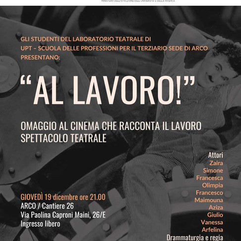 ARCO - A teatro con il nuovo gruppo UPT!