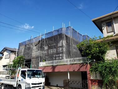着工 船橋市みやぎ台 外壁塗装工事