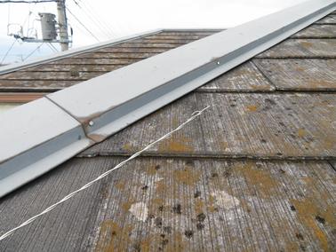 屋根工事のドローンを使った調査